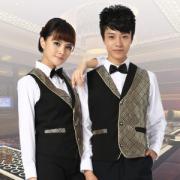 vwin055KTV服务员马甲男女 酒店vwin158马夹西餐厅服务员马甲制服