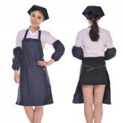 vwin055双层防水 家居围裙 91528系列餐厅/服务员围裙 工装防水围裙 藏...