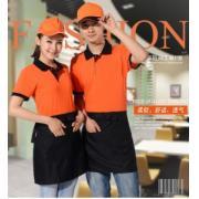 vwin055T恤定做夏季快餐店vwin158t恤短袖 超市服务员vwin158t恤夏装 工衣T恤